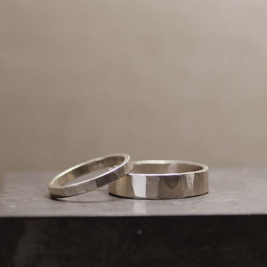 Hand-hammered Wedding Bands