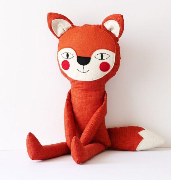 Mr. Fox charming and friendly fox   stuffed animal toy by blita, $45.00