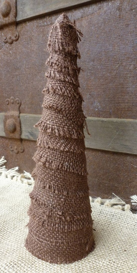Burlap Christmas Tree.