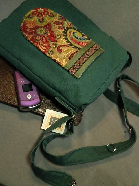 Sturdy Tapestry Pocket Adjustable Strap Canvas Book Tote For iPad Mini Kindle HD, Something Else Studio  /// TAFA Market, Green Collection /// www.tafaforum.com...