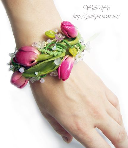 pure springtime #polymer #clay #jewelry