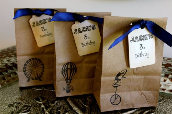 Carnival theme kraft paper favour bags
