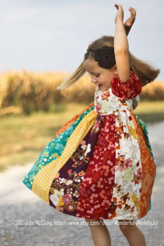 Autumn Harvest Peasant Dress
