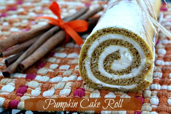 Mommy's Kitchen: Pumpkin Cake Roll & {Thanksgiving Recipe Round Up}