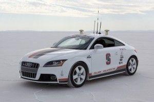 Self-driving Cars Are No Joke. Audi TT self-driving vehicle