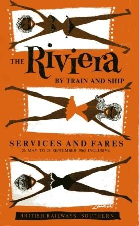 the Riviera (May 1963)  vintage travel poster