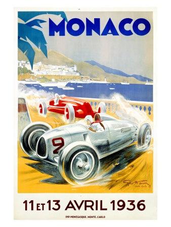 """Monaco Grand Prix 1936"" by Geo Ham"