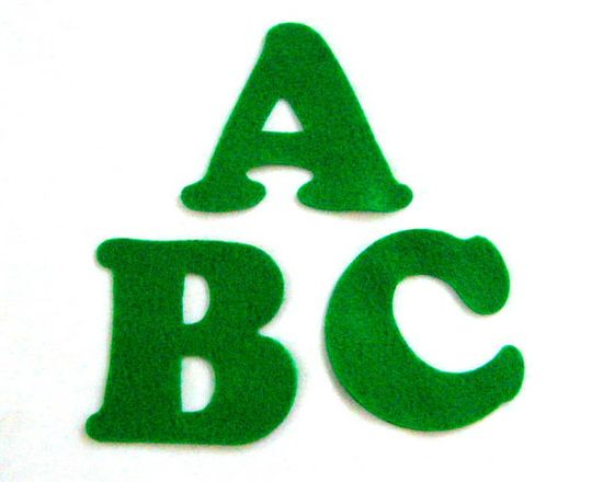Green Felt Alphabet Letters  Fabric Applique by NewEnglandQuilter, $7.50 #etsysns #handmadebot #boebot #couponcode