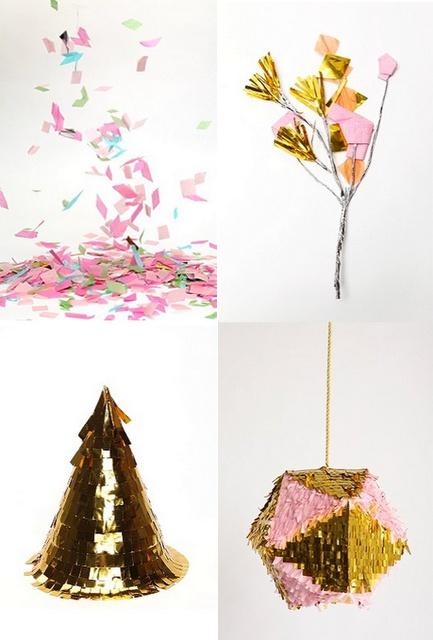 confetti! party hats!