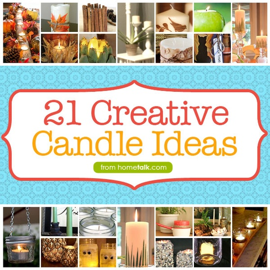 21 Creative Candle Ideas to #DIY