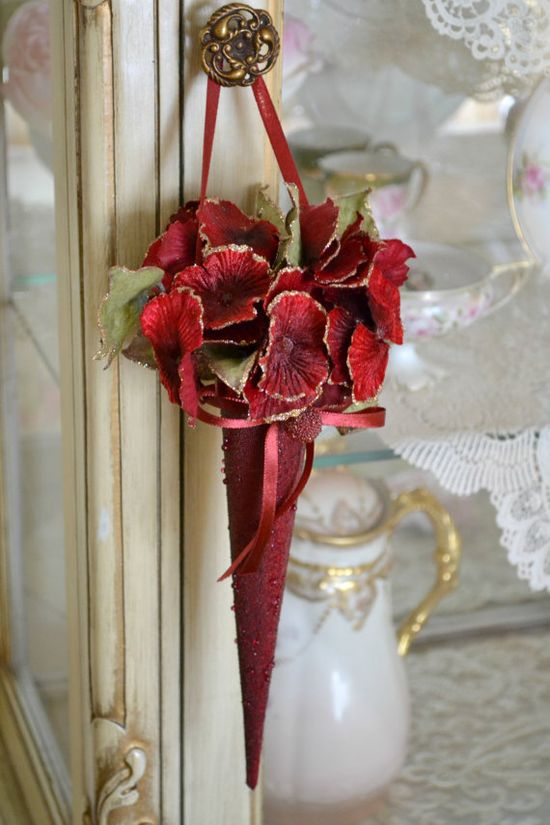 Gorgeous Vintage Floral Christmas Decoration by Jenneliserose