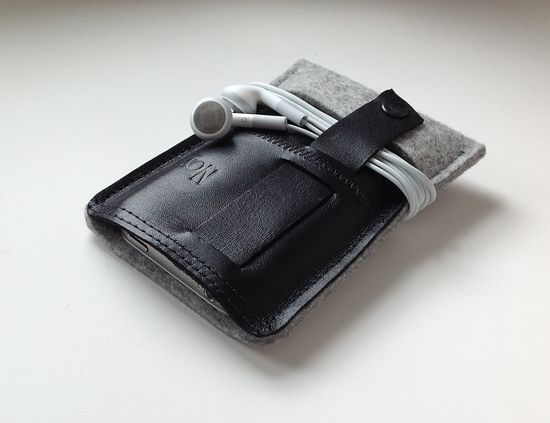 #Gadgets Fundas para el iPhone Case-wool felt and leather
