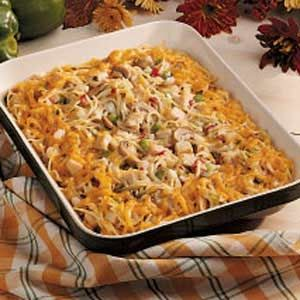 Turkey Tetrazzini, we have too much left over turkey!