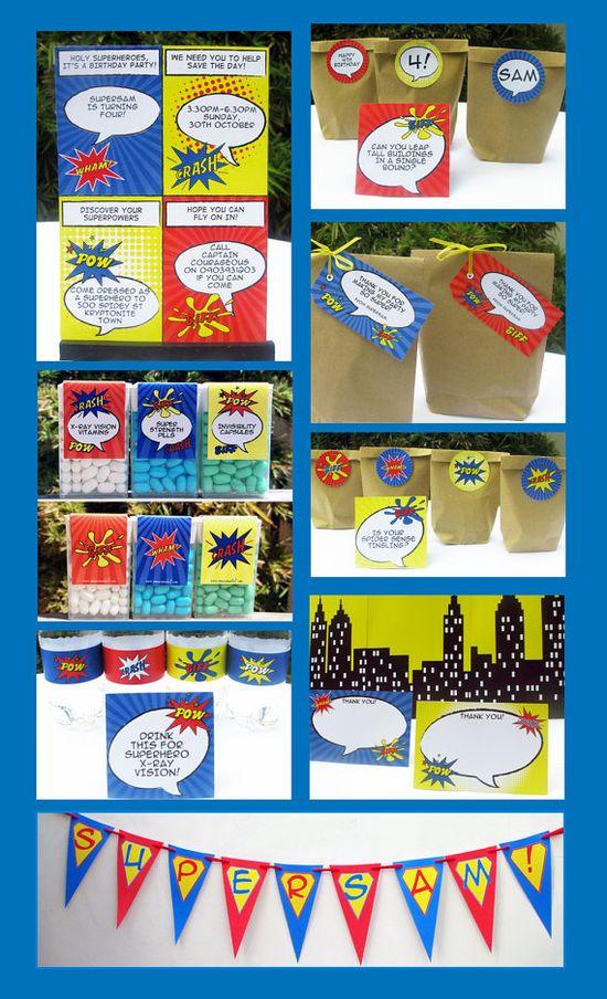 Superhero Birthday Party Invitation & Printable by SIMONEmadeit, $14.95