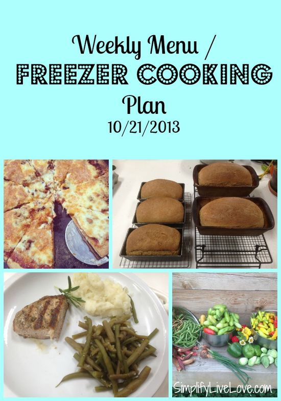 Need meal inspiration? Here's my weekly menu / freezer cooking plan - what we're eating this week for breakfast, lunch, and dinner - and many links to recipes.
