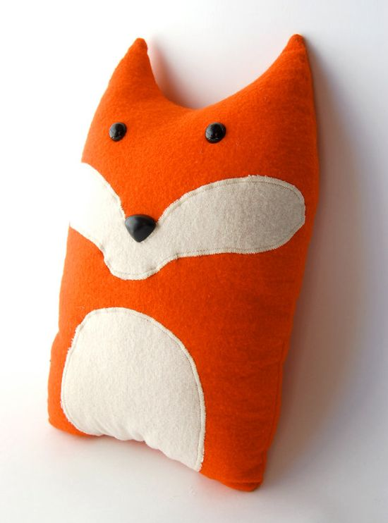 Fox Woodland Forest Plush Stuffed Animal Pillow  by FluffedAnimals, $37.00