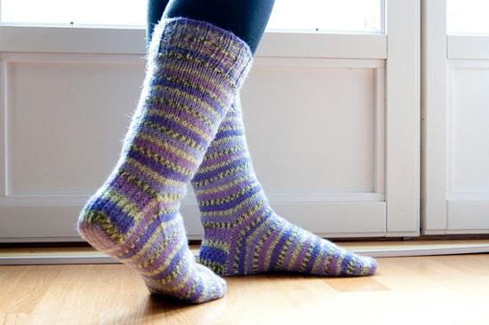 Hand knit sockspurple dream by Varm on Etsy, $36.00
