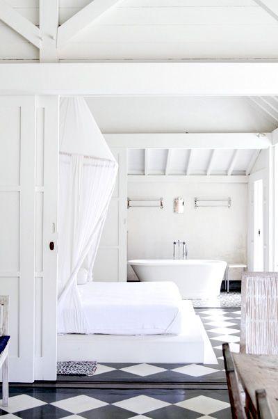 white, bathttub - love it