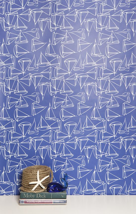 Set Sail $195.00 #kimberlylewishome #wallpaper #home #interior #MTO