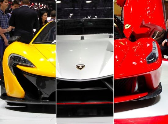 Someone seriously needs to get these three bad boys on the same test track! McLaren P1 vs Veneno vs LaFerrari
