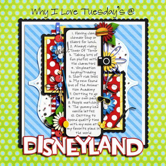 Disney Journaling Layout