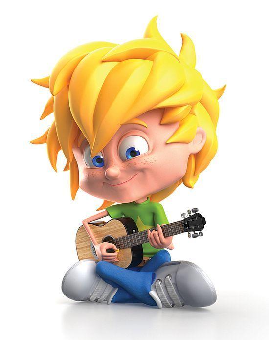 Cartoon Kid Character #kid #character #child #3d character #3d char