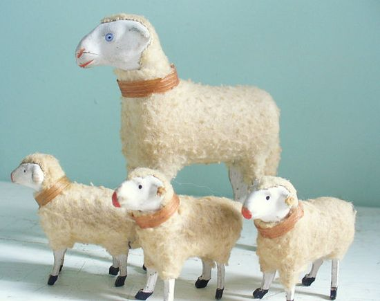 Vintage Putz Sheep