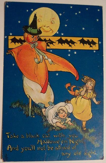 Vintage Halloween Postcard Tuck Series No 197    Tuck Hallowe'en Series No 197