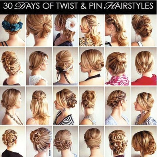 30 days of twist & pin hairstyles: try these all season long! #moreismore