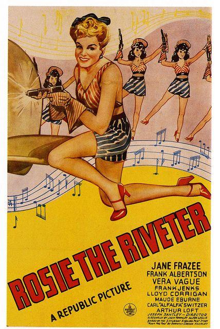 Rosie the Riveter, 1944. #vintage #movies #posters #1940s #WW2 #home_front