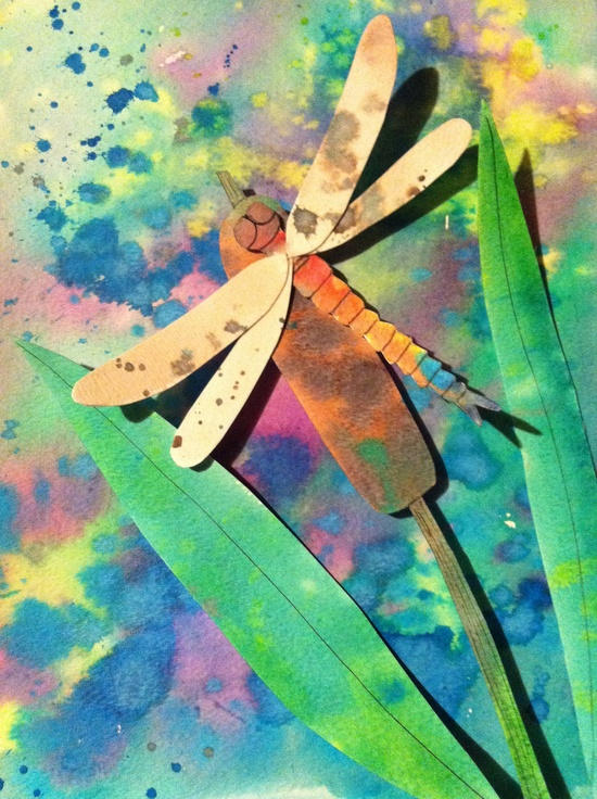 Dragonfly Dreams 3D Watercolor Painting from ThisThatandThese on Etsy.  Chandra Larocque, artist