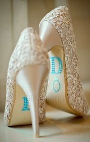 love the shoes but i dont care for the initials on the bottom would be better completely blue on bottom