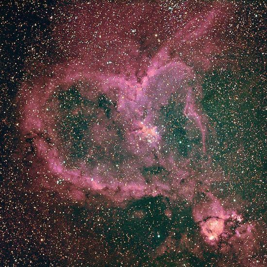 Awesome found in nature by Heart Nebula, NASA, very impressive.
