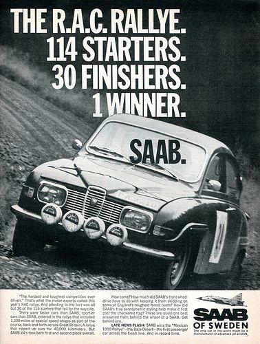 1969 Saab Advertising Road & Track February 1969