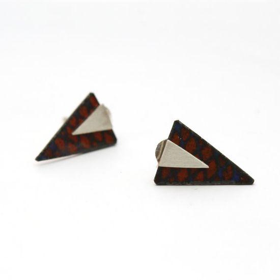 Rombus Triangle Earrings $30.00 #earrings #triangle #jewelry