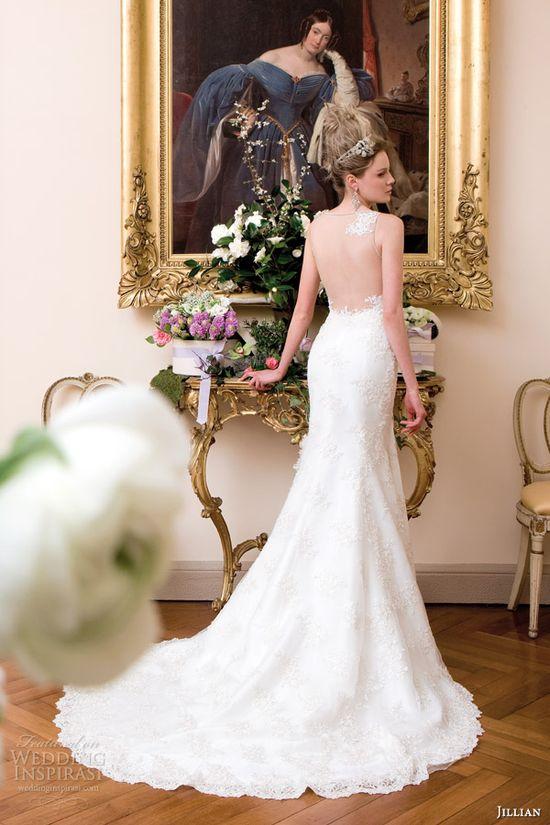 jillian sposa wedding dress 2014 sleeveless gown illusion back style 95801