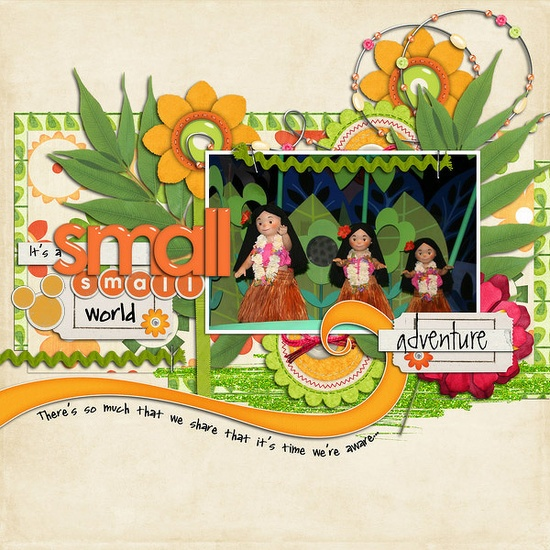 Disney - It's a Small World - perfect color theme & embellishments