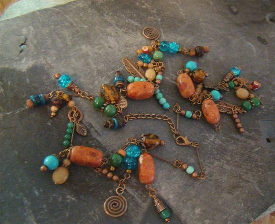 UNIQUE Original Handmade Charms Necklace Southwest by Sewartzee, $25.00