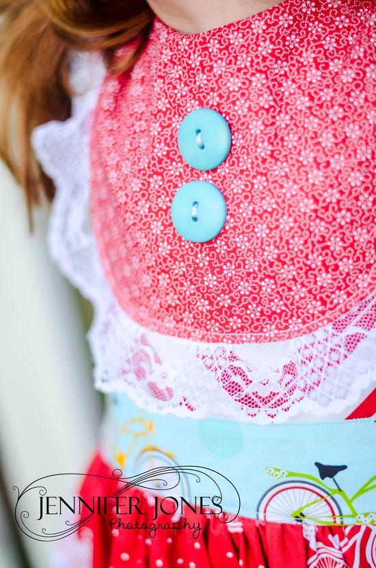 Summer Picnic Party Dress Bib Detail