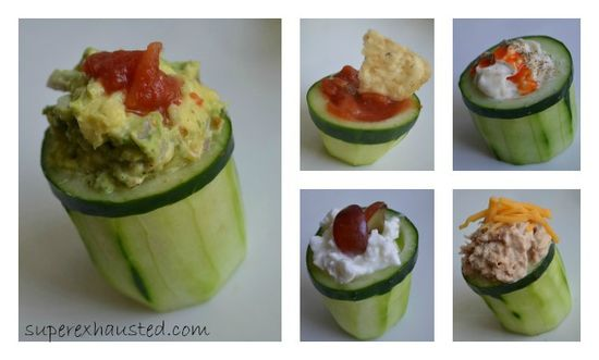 Cucumber  cups Great idea for dips and so simple #cooking #food #entertaining