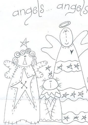 Angels embroidery pattern