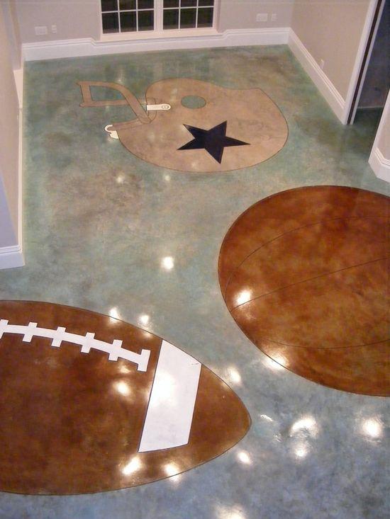 Sports theme    #floor #interior