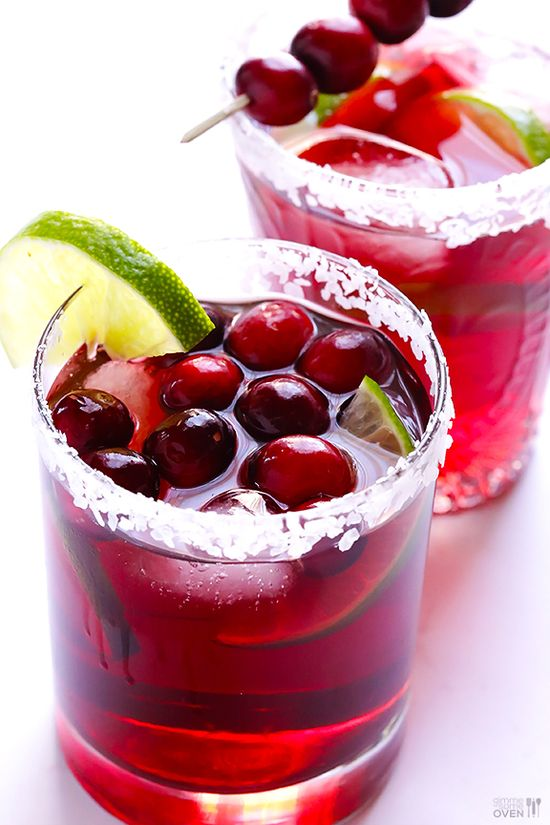 Cranberry Margaritas by gimmesomeoven #Cocktail #Margarita #Cranberry