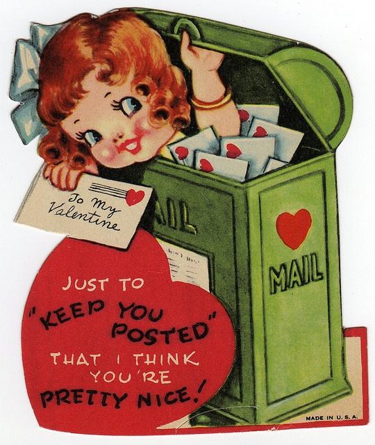 """Keep You Posted"" - Vintage Valentine"