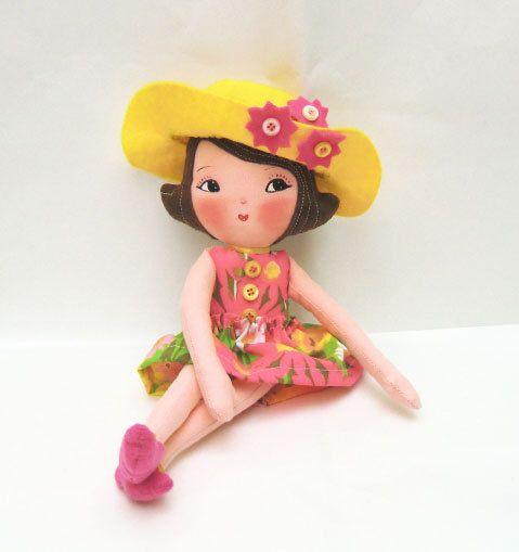 Art Doll Pattern PDF DIY Doll Girl Ginger by ArtistaToscana. $10.90, via Etsy.