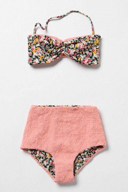 Anthropologie Floral Rush Bikini Top