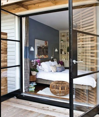 These are the doors i want! bedrooms onto the terrace!