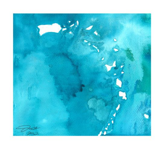 Watercolor Caribbean Map Jessica Durrant I by JessicaIllustration, $25.00