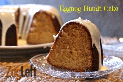 Moist and delicious Eggnog Bundt Cake Recipe