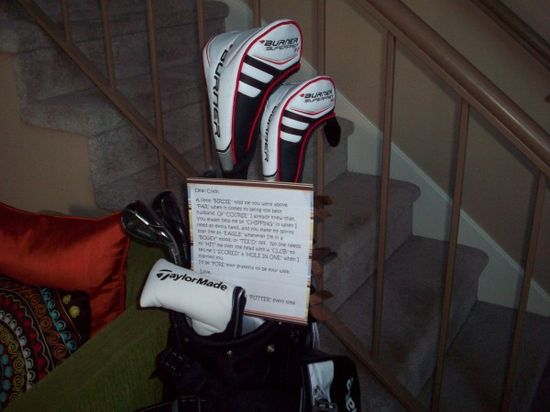 golf gifts and sayings for giving a golfer